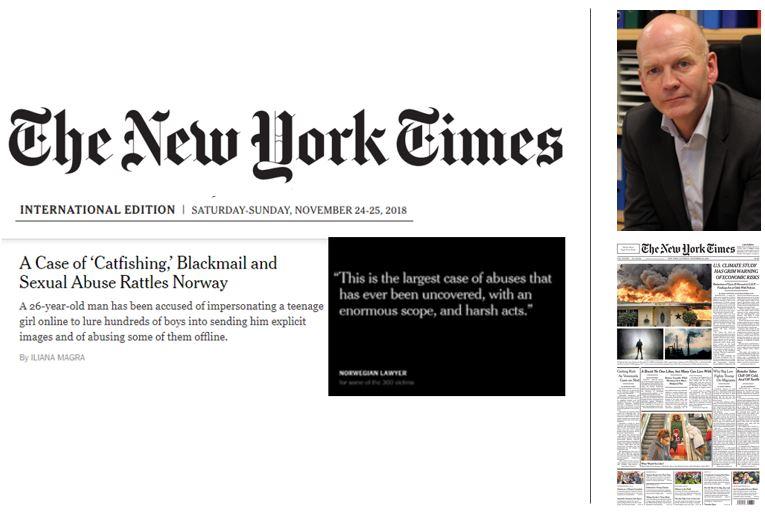 New York Times 24.11.18 - Intervju med bistandsadvokat Christian Lundin