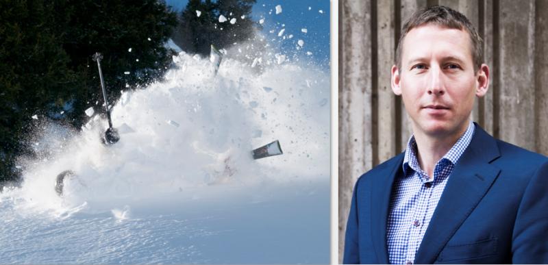 advokat Tom Sørum er advokat for jente som ble utsatt for en personskade etter en alpinulykke - illustrasjonsfoto og portrett av Tom Sørum