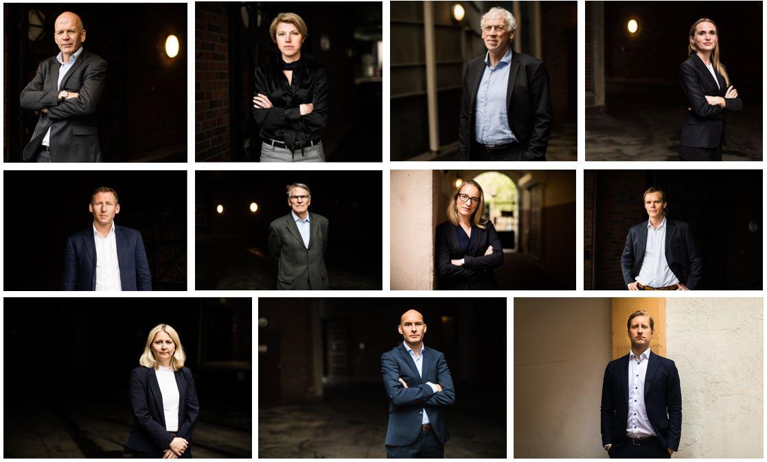 Bildekollage av advokater Advokatfirmaet Ness Lundin