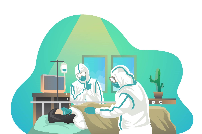 Korona helsepersonell illustrasjon yrkessskade